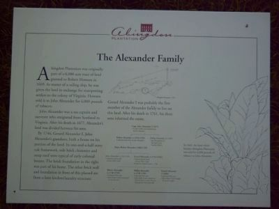 The Alexander Family Marker image. Click for full size.