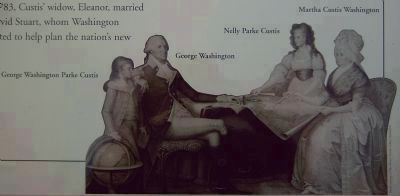 The combined Washington and Custis Family, after the death of John Parke Custis image. Click for full size.