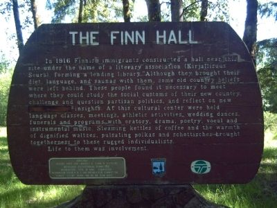 The Finn Hall Marker image. Click for full size.