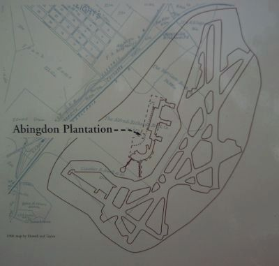 Map of Abingdon Plantation on The Industrial Age Marker image. Click for full size.