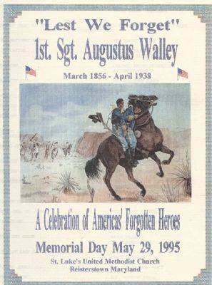 """Lest We Forget, 1st Sgt. Augustus Walley"" image. Click for full size."