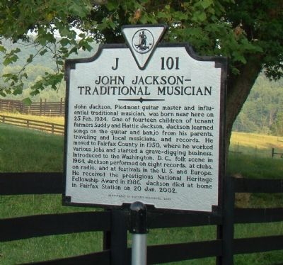 John Jackson—Traditional Musician Marker image. Click for full size.