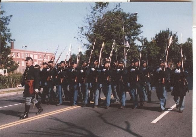 Civil War Reenactors, Dedication Parade, 1998 image. Click for full size.