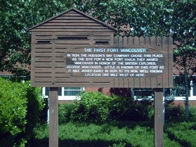 The First Fort Vancouver Marker image. Click for full size.