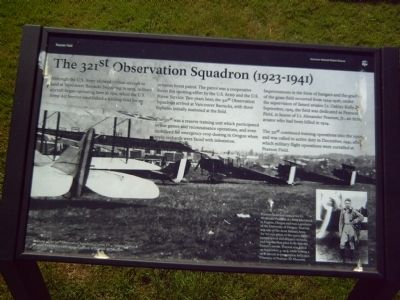 The 321st Observation Squadron (1923-1941) Marker image. Click for full size.