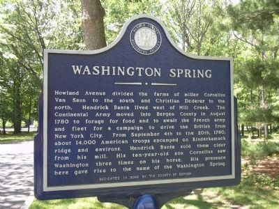 Washington Spring Marker image. Click for full size.