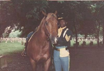 Buffalo Soldier Re-enactor at Special Memorial Day Tribute, 1996 image. Click for full size.