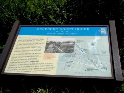 Culpeper Court House Marker image. Click for full size.