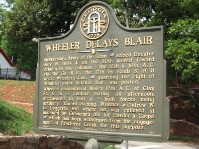 Wheeler Delays Blair Marker image. Click for full size.