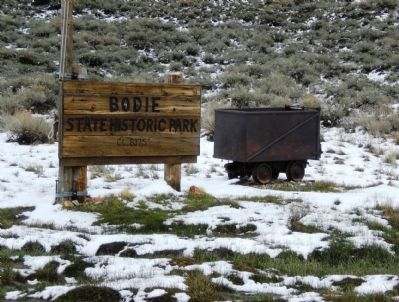 Bodie State Historical Park - Entrance Sign image. Click for full size.