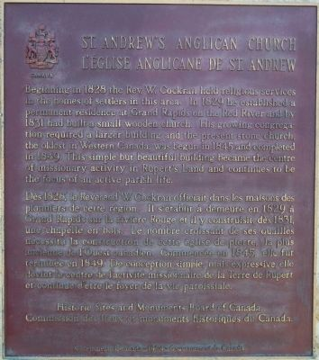 St. Andrew's Anglican Church Marker image. Click for full size.