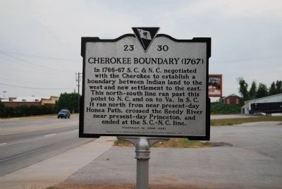 Cherokee Boundary (1767) Marker image. Click for full size.