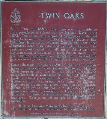 Twin Oaks Marker image. Click for full size.