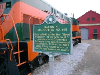 Baldwin Locomotive Marker image. Click for full size.