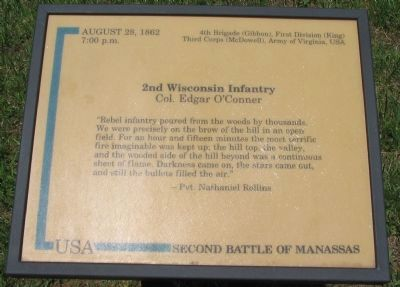 2nd Wisconsin Infantry Marker image. Click for full size.