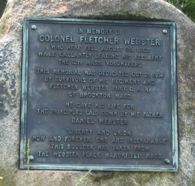 Colonel Fletcher Webster Memorial image. Click for full size.