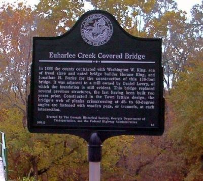 Euharlee Creek Covered Bridge Marker image. Click for full size.