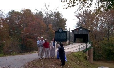 Dedication of Euharlee Creek Covered Bridge Marker image. Click for full size.