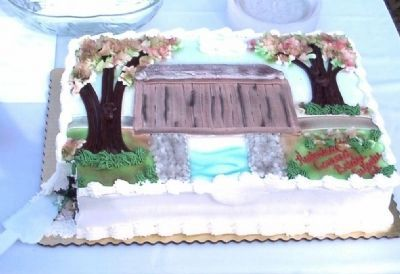 Euharlee Creek Covered Bridge Cake image. Click for full size.