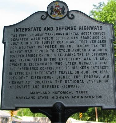 Interstate and Defense Highways Marker image. Click for full size.