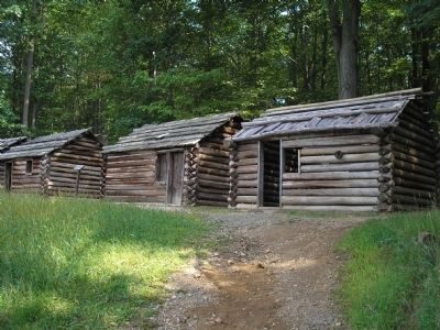 Soldier Huts in Jockey Hollow image. Click for full size.