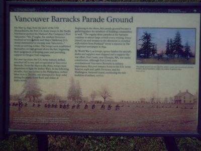 Vancouver Barracks Parade Ground Marker image. Click for full size.