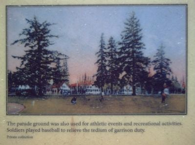 Picture in upper right of the Vancouver Barracks Parade Ground Marker image. Click for full size.