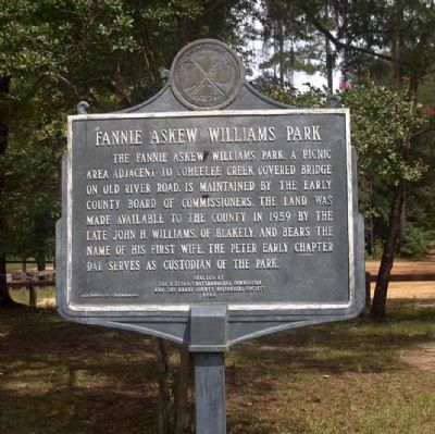 Fannie Askew Williams Park side of marker image. Click for full size.