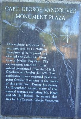 Captain George Vancouver Monument Plaza Marker </b>[Panel 2] image. Click for full size.