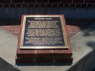 Collins Park Marker image. Click for full size.