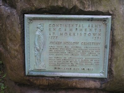Jockey Hollow Cemetery Marker image. Click for full size.