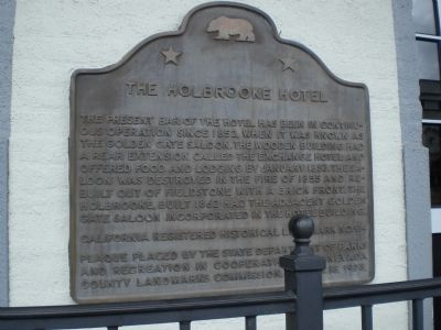 The Holbrooke Hotel Marker image. Click for full size.
