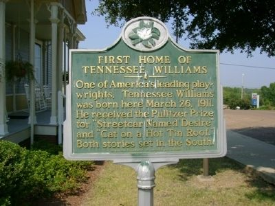 First Home of Tennessee Williams Marker image. Click for full size.