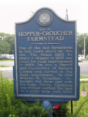 Site of Hopper-Croucher Homestead Marker image. Click for full size.