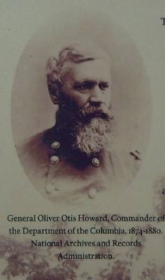 Picture from the marker of General O. O. Howard image. Click for full size.