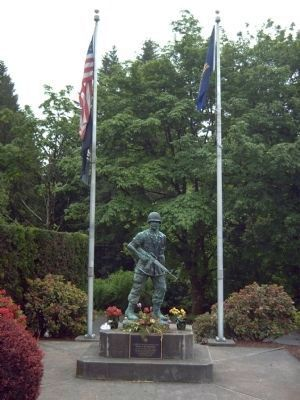 The Vietnam Monument and Marker image. Click for full size.