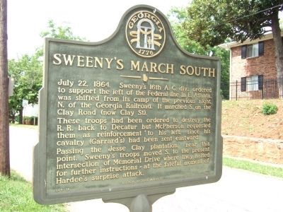 Sweeny's March South Marker image. Click for full size.