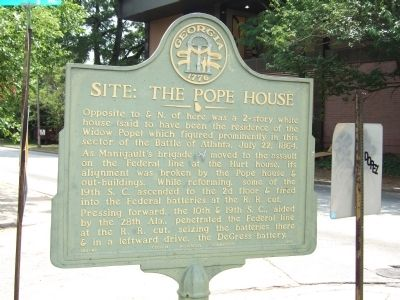 Site: The Pope House Marker image. Click for full size.
