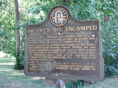 Sweeny's Division Encamped Marker image. Click for full size.