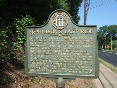 McPherson's Last Ride Marker image. Click for full size.