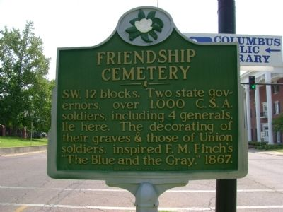 Friendship Cemetery Marker image. Click for full size.