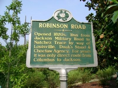 Robinson Road Marker image. Click for full size.