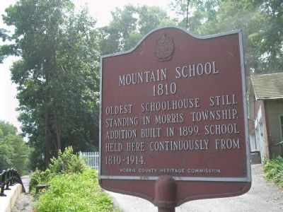 Mountain School Marker image. Click for full size.