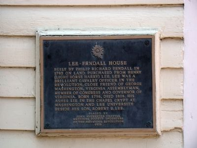 Lee-Fendall House Marker image. Click for full size.