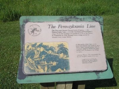 The Pennsylvania Line Marker image. Click for full size.