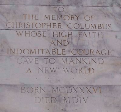Christopher Columbus Marker image. Click for full size.