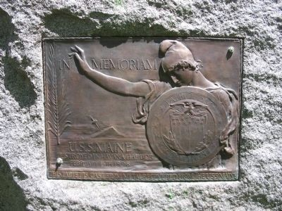 U.S.S. Maine Plaque image. Click for full size.