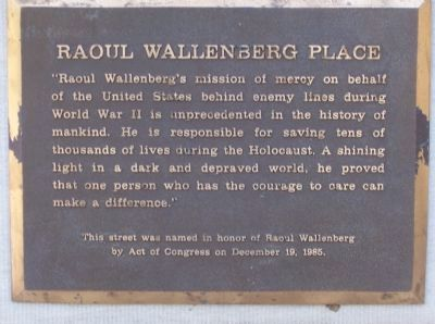 Raoul Wallenberg Place Marker image. Click for full size.