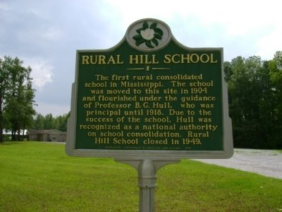 Rural Hill School Marker image. Click for full size.
