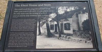 The Ebert House and Store Marker image. Click for full size.